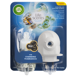 Air Wick Life Scents Scented Oil Plug in Diffuser Turquoise Oasis