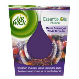 Air Wick Bougie Essential Oils Mûres Sauvages ¹