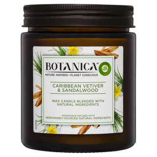 Botanica By Air Wick Candle Caribbean Vetiver & Sandalwood 205g