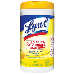 Lysol® Toallitas Desinfectantes para Superficies - Citrus 80 ct