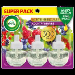Air Wick® Eléctrico 3 Repuestos Country Berries 21 mL c/u