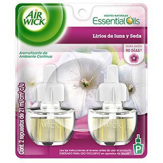 Air Wick® Eléctrico Lirios de luna y Seda Repuesto 21 ml (x2)