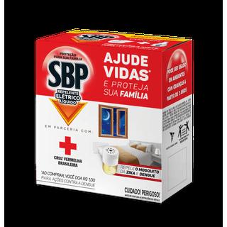 Repelente Elétrico Líquido SBP Aparelho + Refil 35ml Cruz Vermelha