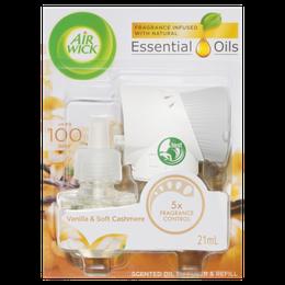 Air Wick Scented Oil Diffuser & Refill Vanilla & Soft Cashmere 21mL