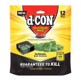 d-CON® REFILLABLE MOUSE BAIT STATION