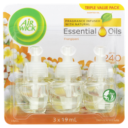 Air Wick Essential Oils Plug In Frangipani Triple Refill