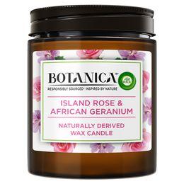 Botanica by Air Wick svíčka - Exotická růže a africká pelargónie