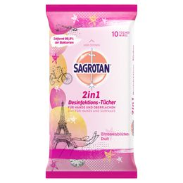 Sagrotan 2in1 Desinfektions-Tücher Zitronenblüten-Duft