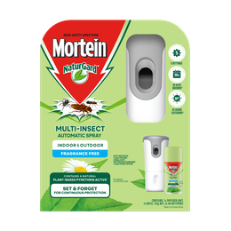 Mortein NaturGard Multi-Insect Automatic Diffuser Kit Fragrance Free 152g