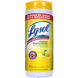 Lysol® Toallitas Desinfectantes para Superficies - Citrus 35 ct