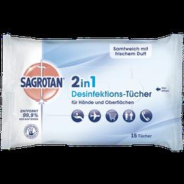 Sagrotan 2in1 Desinfektions-Tücher 15 Stück