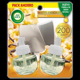 Air Wick® Eléctrico Aparato y 2 Repuestos Vainilla 21 mL c/u