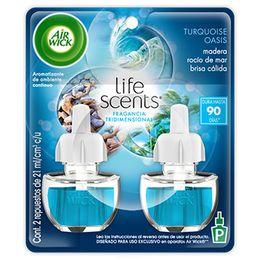 Air Wick® Eléctrico Turquoise Oasis Repuesto 21mL (x2)