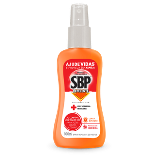 Repelente Corporal SBP Spray Cruz Vermelha 100ml