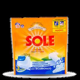 SOLE CAPS 3 AZIONI BIANCO SPLENDENTE 15caps