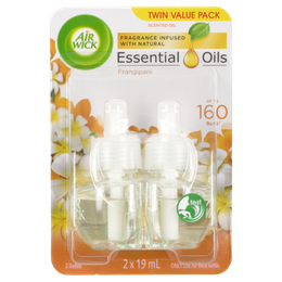 Air Wick Fragrance Infused With Natural Essential Oils Frangipani 2 x 19mL