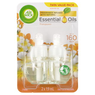Air Wick Frangrance Infused With Natural Essential Oils Frangipani 2 x 19 mL