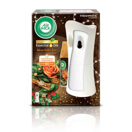 Air Wick Freshmatic Autospray Kit & Warm Amber Rose Refill