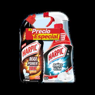PAQUETE ESPECIAL de Harpic® POWER ULTRA 750ml CON Harpic® BAÑOS ULTRA 650ml