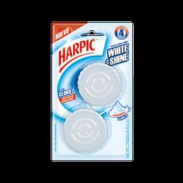 Harpic® White & Shine Pastilla Para Tanque Con Aroma A Cloro 2pzas.