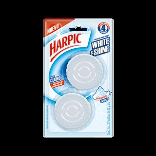 Harpic® White & Shine Pastilla Para Tanque Con Aroma A Cloro, 2pzas