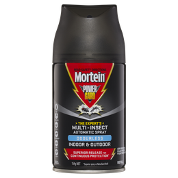 Mortein PowerGard Automatic Multi Insect Spray Indoor & Outdoor Odourless Refill 154g