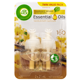 Air Wick Essential Oils Plug In Vanilla & Soft Cashmere Twin Refill