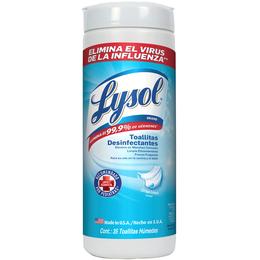 Lysol, Toallitas Desinfectantes para Superficies - Crisp linen 35 pzas