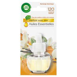 Air Wick Recharge Diffuseur Electrique Fleur de Vanille et Délices de Caramel
