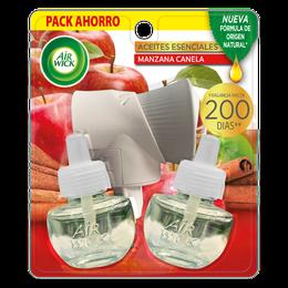 Air Wick® Eléctrico Aparato y 2 Repuestos Manzana Canela 21 mL c/u