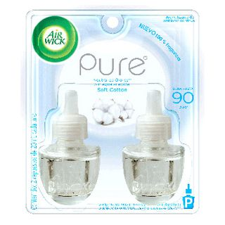 Air Wick® Eléctrico Soft Cotton Repuesto 21 ml (x2)