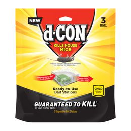 d-CON Bait Station Corner Fit Disposable