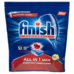 Finish Powerball All in 1 Max Dishwasher Tablets Lemon 53 Pack