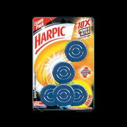 Harpic® 10 x Power Ultra® Limpiador de Inodoros Pastilla para Tanque, 5pzas