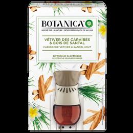 Botanica Diffuseur électrique Vétiver des Caraïbes et Bois de Santal