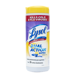Lysol Toallitas Desinfectantes para Superficies Dual Action 35s