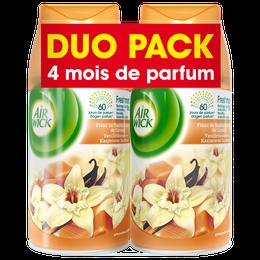 Air Wick Recharge Freshmatic Duo Pack Fleur de Vanille et Délice de Caramel ¹