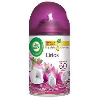 NUEVO AIR WICK® FRESHMATIC® ETHANOL  LIRIOS  REPUESTO 250ML