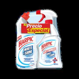 PAQUETE ESPECIAL DE 2 Harpic® WHITE & SHINE 750ML