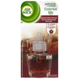 Air Wick Recharge Diffuseur Electrique Cannelle & Bois Précieux ¹