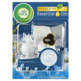 Air Wick Scented Oil Diffuser & Refill Turquoise Oasis 19mL