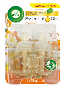 Air Wick Essential Oils Plug In Frangipani Twin Refill