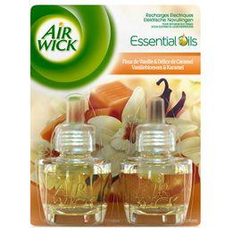 Air Wick Recharge Diffuseur Electrique Duo Pack Fleur de Vanille & Délice de Caramel ¹
