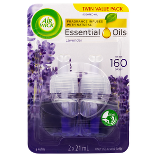 Air Wick Essential Oils Plug In Lavender Twin Refill