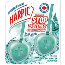 Harpic Bloc Cuvette Accroche Stop bactéries sans Javel