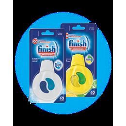 Osviežovač do umývačky riadu Finish:Regular (originálna vôňa) a Citrón