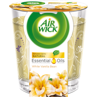 Air Wick Essential Oil Infusion Candle - White Vanilla Bean