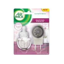 Elektrický osvěžovač vzduchu - strojek & náplň - Jemný satén a měsíční lilie