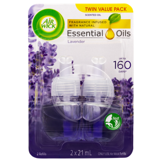 Airwick Essential Oil Electrical Refill Lavender 2 x 21ml