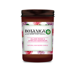 Botanica by Air Wick Candle Island Rose & African Geranium 205g
